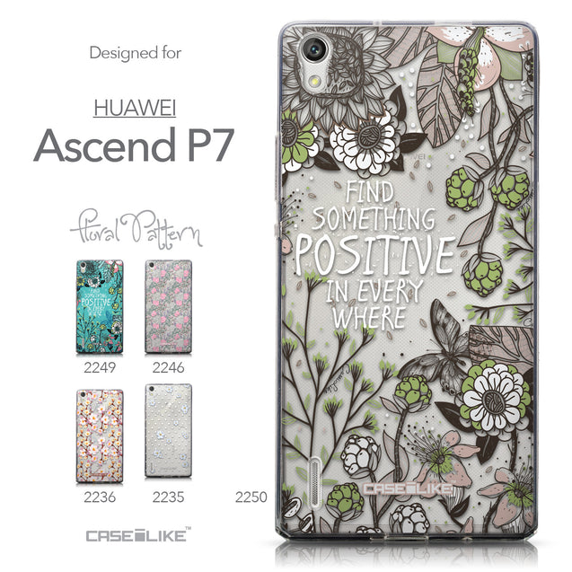 Collection - CASEiLIKE Huawei Ascend P7 back cover Blooming Flowers 2250