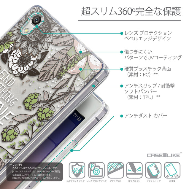 Details in Japanese - CASEiLIKE Huawei Ascend P7 back cover Blooming Flowers 2250