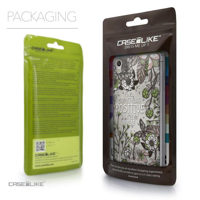 Packaging - CASEiLIKE Huawei Ascend P7 back cover Blooming Flowers 2250