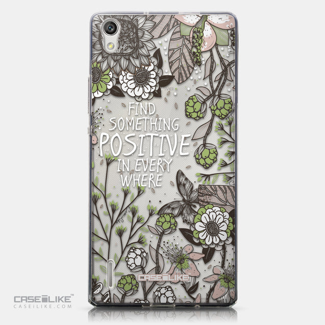 CASEiLIKE Huawei Ascend P7 back cover Blooming Flowers 2250