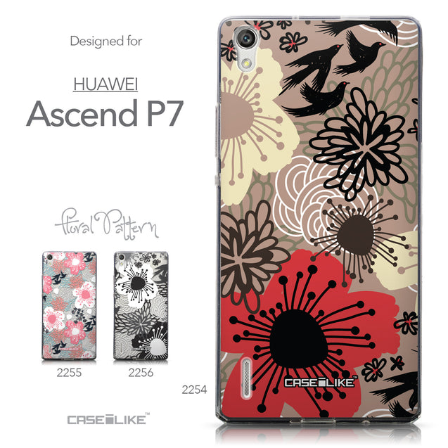 Collection - CASEiLIKE Huawei Ascend P7 back cover Japanese Floral 2254