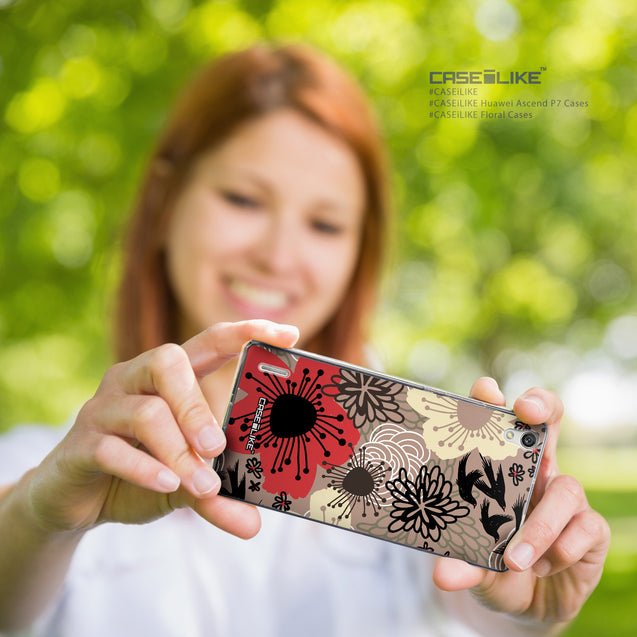 Share - CASEiLIKE Huawei Ascend P7 back cover Japanese Floral 2254