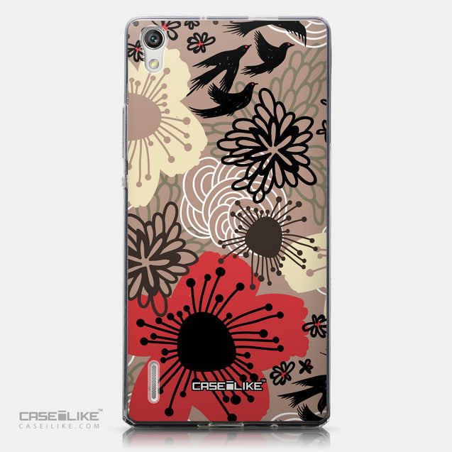 CASEiLIKE Huawei Ascend P7 back cover Japanese Floral 2254