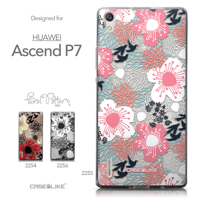 Collection - CASEiLIKE Huawei Ascend P7 back cover Japanese Floral 2255