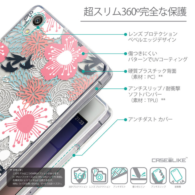 Details in Japanese - CASEiLIKE Huawei Ascend P7 back cover Japanese Floral 2255