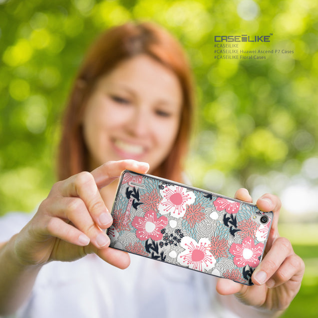 Share - CASEiLIKE Huawei Ascend P7 back cover Japanese Floral 2255