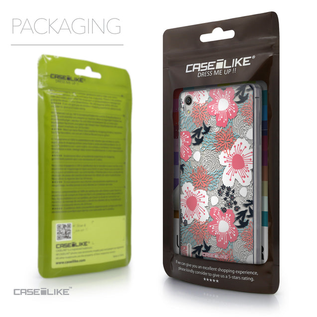 Packaging - CASEiLIKE Huawei Ascend P7 back cover Japanese Floral 2255