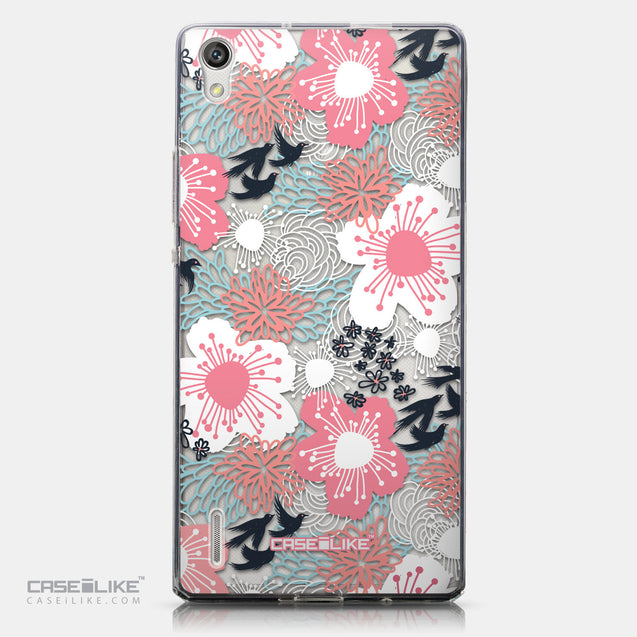 CASEiLIKE Huawei Ascend P7 back cover Japanese Floral 2255