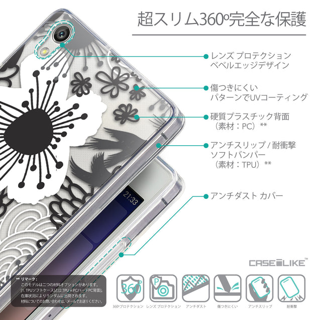 Details in Japanese - CASEiLIKE Huawei Ascend P7 back cover Japanese Floral 2256