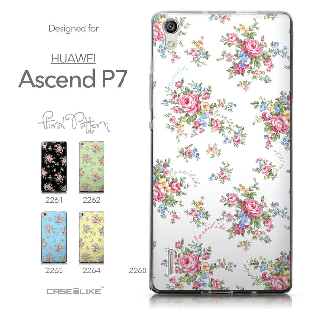 Collection - CASEiLIKE Huawei Ascend P7 back cover Floral Rose Classic 2260