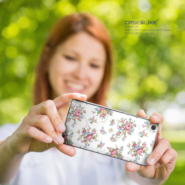 Share - CASEiLIKE Huawei Ascend P7 back cover Floral Rose Classic 2260