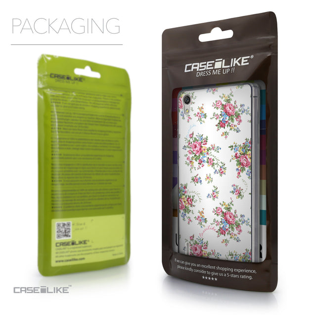 Packaging - CASEiLIKE Huawei Ascend P7 back cover Floral Rose Classic 2260