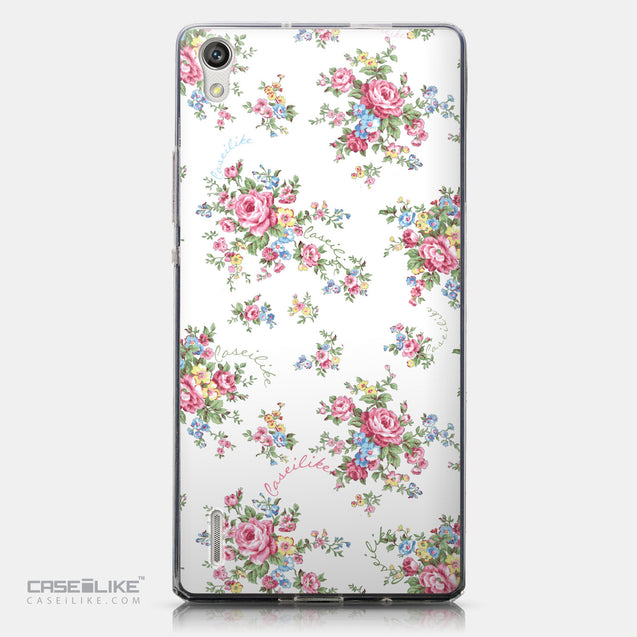 CASEiLIKE Huawei Ascend P7 back cover Floral Rose Classic 2260