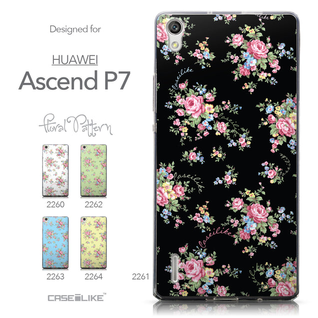 Collection - CASEiLIKE Huawei Ascend P7 back cover Floral Rose Classic 2261