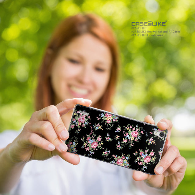Share - CASEiLIKE Huawei Ascend P7 back cover Floral Rose Classic 2261
