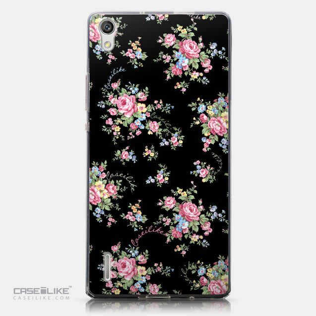 CASEiLIKE Huawei Ascend P7 back cover Floral Rose Classic 2261
