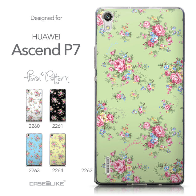 Collection - CASEiLIKE Huawei Ascend P7 back cover Floral Rose Classic 2262