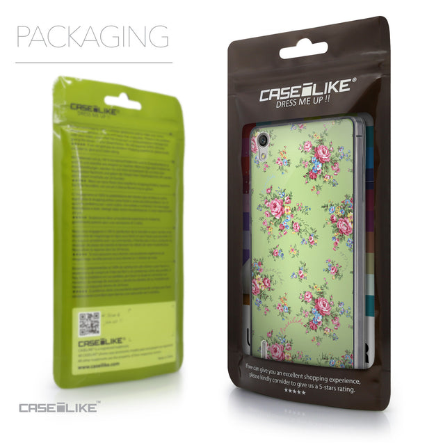 Packaging - CASEiLIKE Huawei Ascend P7 back cover Floral Rose Classic 2262