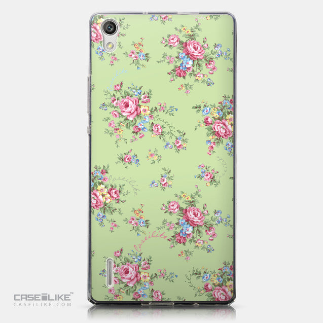 CASEiLIKE Huawei Ascend P7 back cover Floral Rose Classic 2262