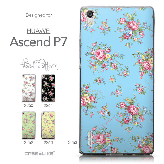 Collection - CASEiLIKE Huawei Ascend P7 back cover Floral Rose Classic 2263