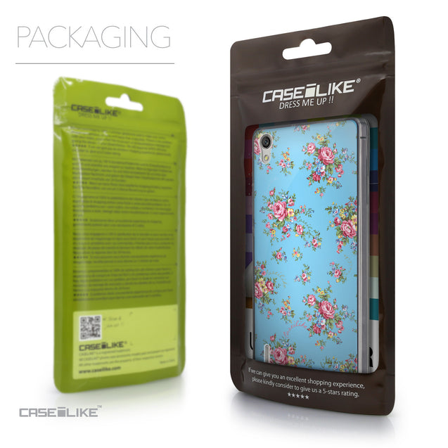 Packaging - CASEiLIKE Huawei Ascend P7 back cover Floral Rose Classic 2263