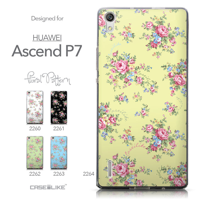 Collection - CASEiLIKE Huawei Ascend P7 back cover Floral Rose Classic 2264