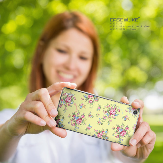 Share - CASEiLIKE Huawei Ascend P7 back cover Floral Rose Classic 2264