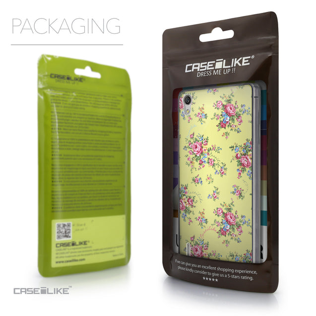 Packaging - CASEiLIKE Huawei Ascend P7 back cover Floral Rose Classic 2264