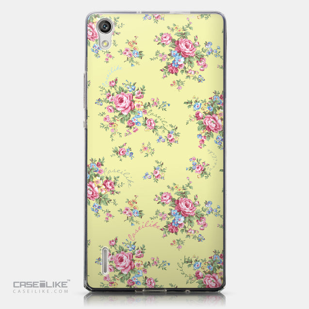 CASEiLIKE Huawei Ascend P7 back cover Floral Rose Classic 2264