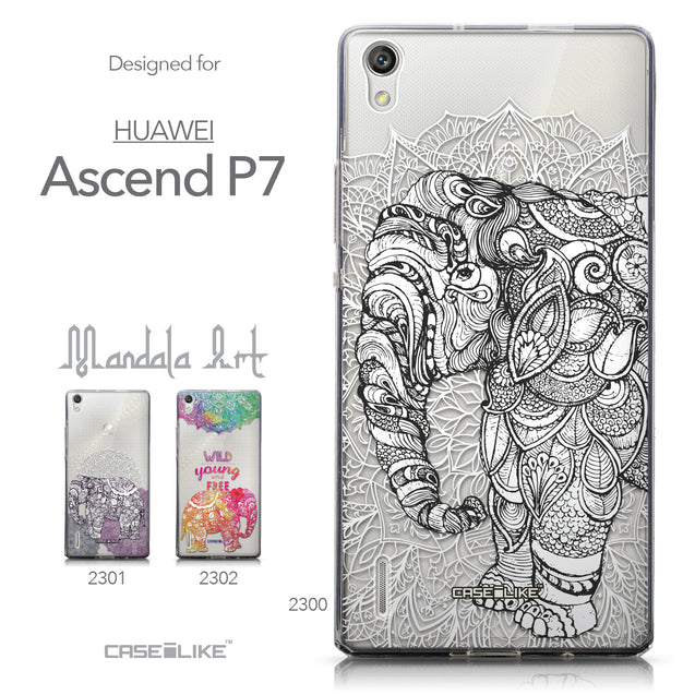 Collection - CASEiLIKE Huawei Ascend P7 back cover Mandala Art 2300