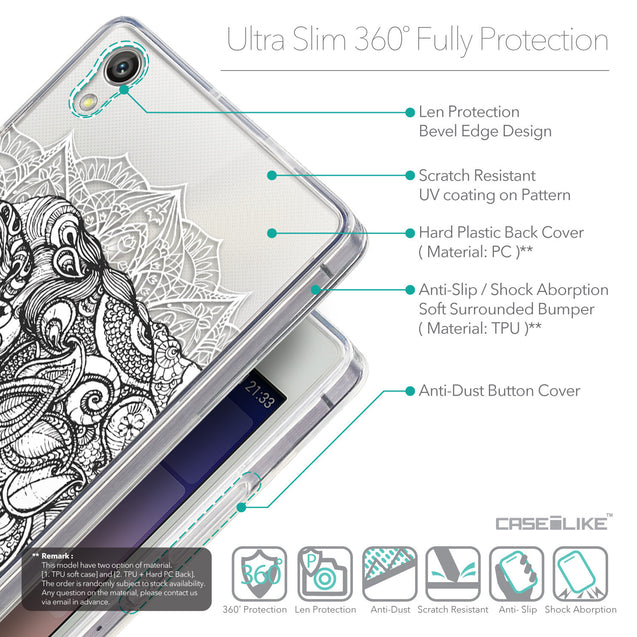 Details in English - CASEiLIKE Huawei Ascend P7 back cover Mandala Art 2300