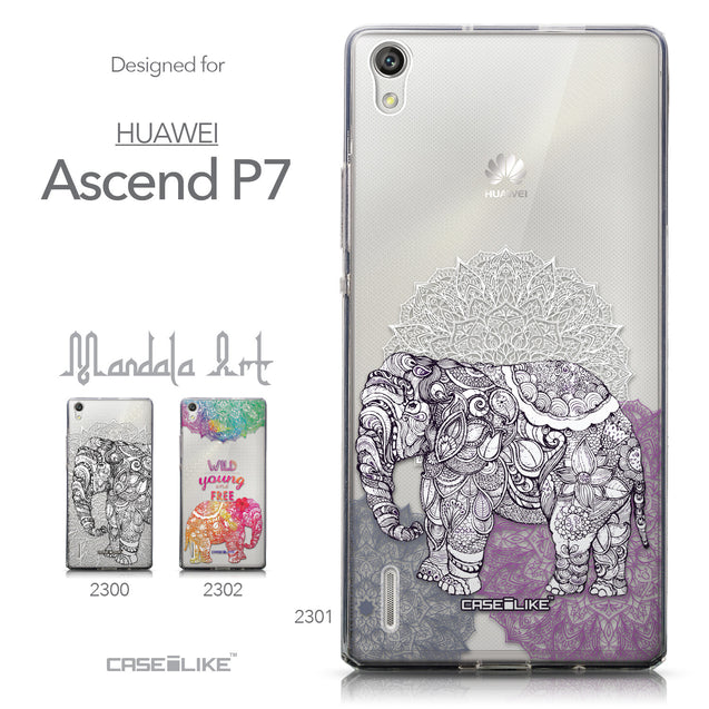 Collection - CASEiLIKE Huawei Ascend P7 back cover Mandala Art 2301