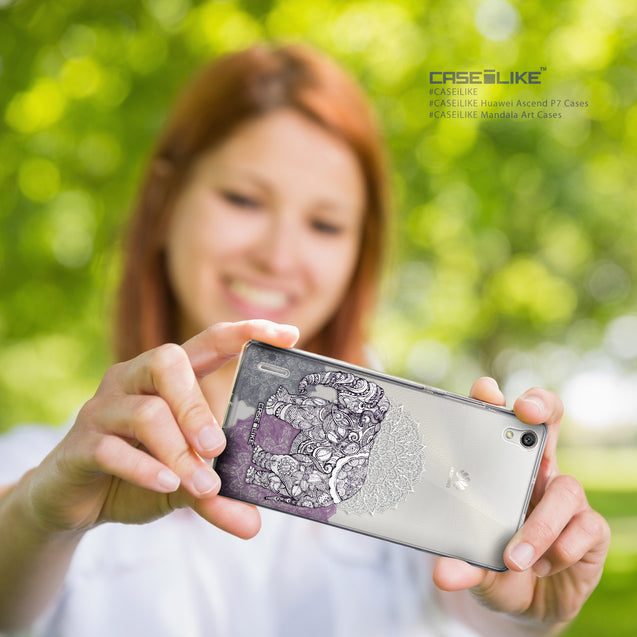 Share - CASEiLIKE Huawei Ascend P7 back cover Mandala Art 2301