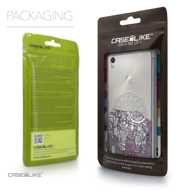 Packaging - CASEiLIKE Huawei Ascend P7 back cover Mandala Art 2301
