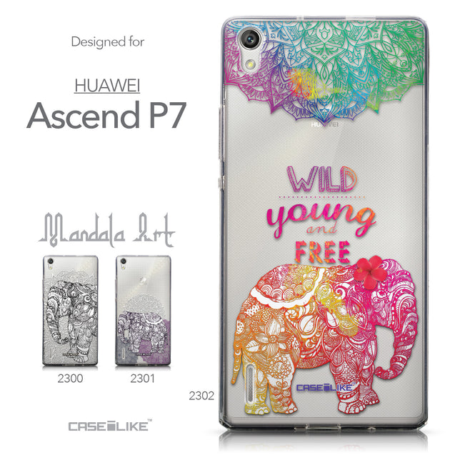 Collection - CASEiLIKE Huawei Ascend P7 back cover Mandala Art 2302