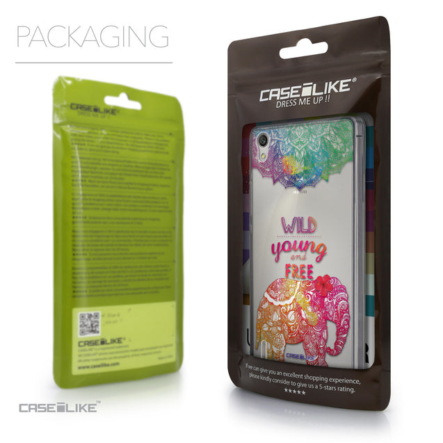 Packaging - CASEiLIKE Huawei Ascend P7 back cover Mandala Art 2302