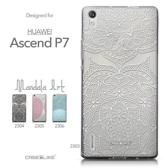 Collection - CASEiLIKE Huawei Ascend P7 back cover Mandala Art 2303