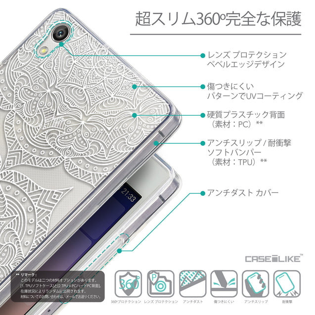 Details in Japanese - CASEiLIKE Huawei Ascend P7 back cover Mandala Art 2303