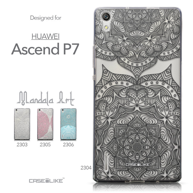 Collection - CASEiLIKE Huawei Ascend P7 back cover Mandala Art 2304