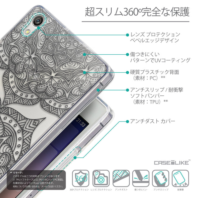 Details in Japanese - CASEiLIKE Huawei Ascend P7 back cover Mandala Art 2304
