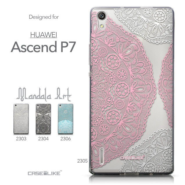 Collection - CASEiLIKE Huawei Ascend P7 back cover Mandala Art 2305