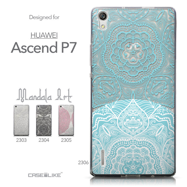 Collection - CASEiLIKE Huawei Ascend P7 back cover Mandala Art 2306