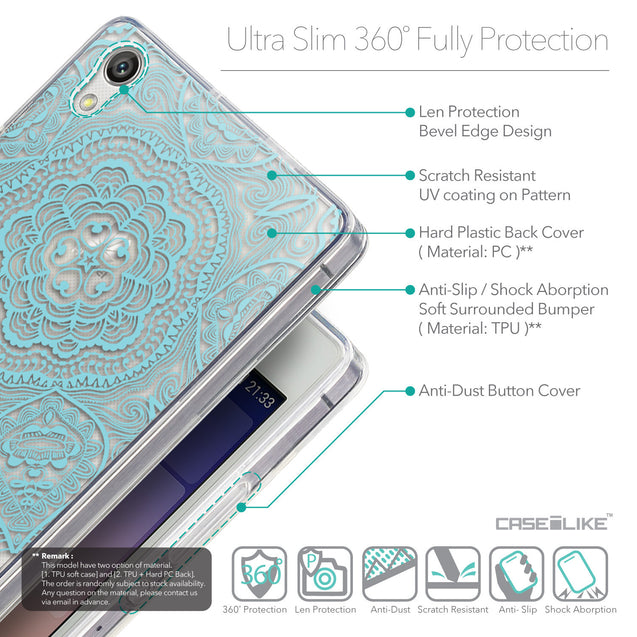 Details in English - CASEiLIKE Huawei Ascend P7 back cover Mandala Art 2306