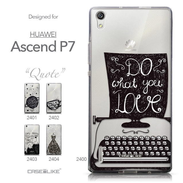 Collection - CASEiLIKE Huawei Ascend P7 back cover Quote 2400