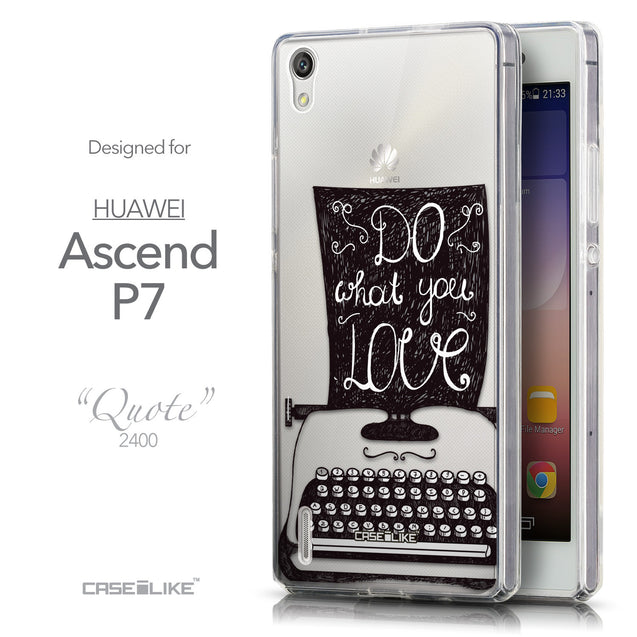 Front & Side View - CASEiLIKE Huawei Ascend P7 back cover Quote 2400