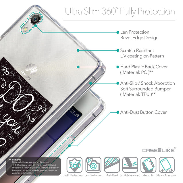 Details in English - CASEiLIKE Huawei Ascend P7 back cover Quote 2400