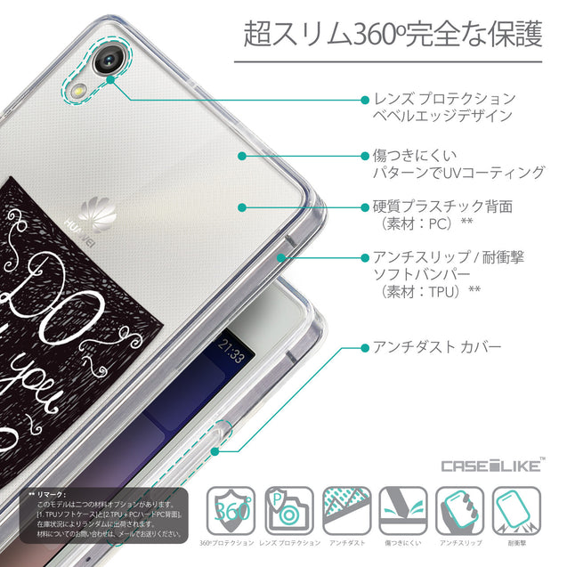 Details in Japanese - CASEiLIKE Huawei Ascend P7 back cover Quote 2400
