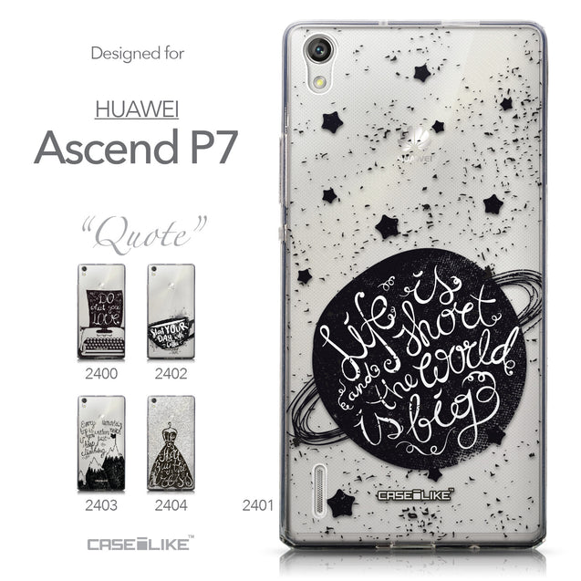 Collection - CASEiLIKE Huawei Ascend P7 back cover Quote 2401