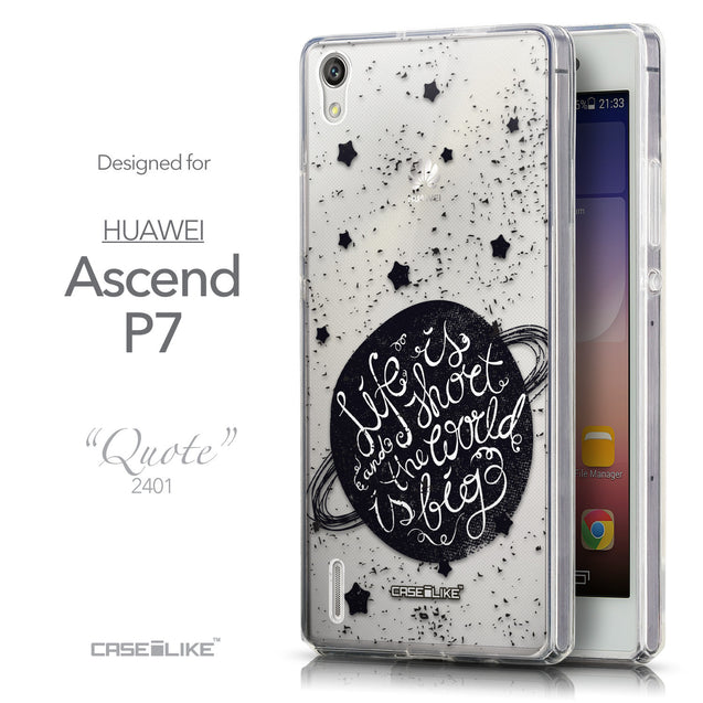 Front & Side View - CASEiLIKE Huawei Ascend P7 back cover Quote 2401
