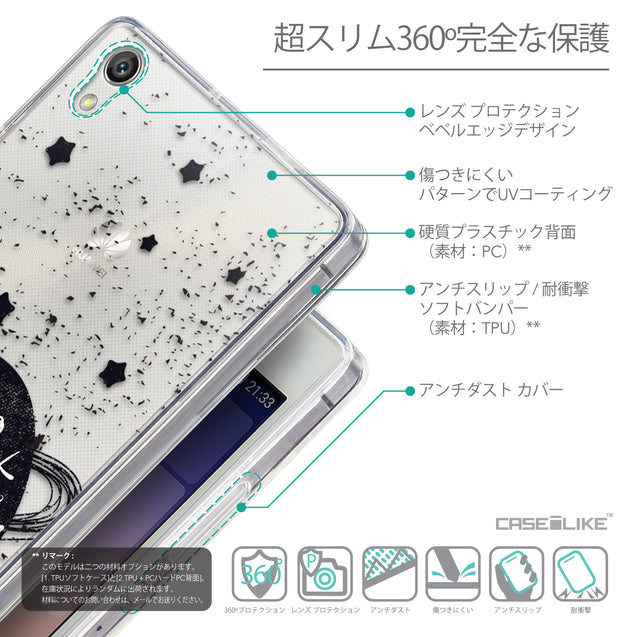 Details in Japanese - CASEiLIKE Huawei Ascend P7 back cover Quote 2401